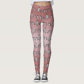 Penguin Party Leggings (Dusty Pink Mix)