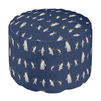 Penguin Party Pouf (Navy)