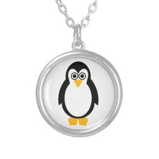 Penguin Party Silver Plated Necklace