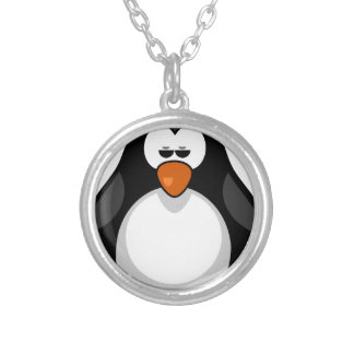 penguin - penguin silver plated necklace