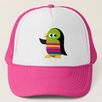 Penguin Penguins Bird Antarctica Cute Cartoon Trucker Hat