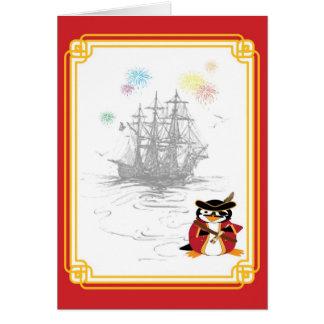 Penguin Pirate Card