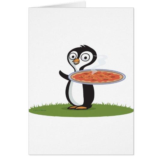 Penguin Pizza Card