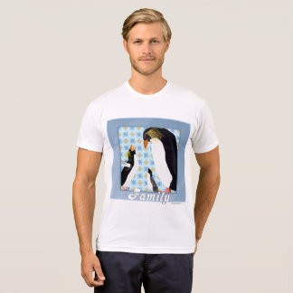 Penguin Portrait Men's Poly-Cotton T-shirt