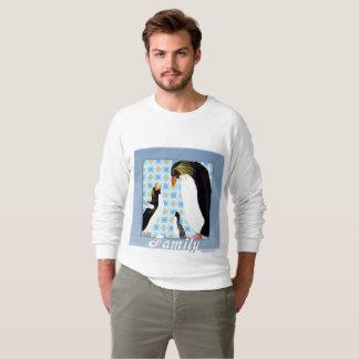 Penguin Portrait Men's Raglan Sweatshirt