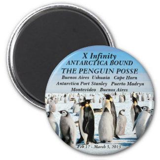 penguin posse fridge magnert 2 inch round magnet
