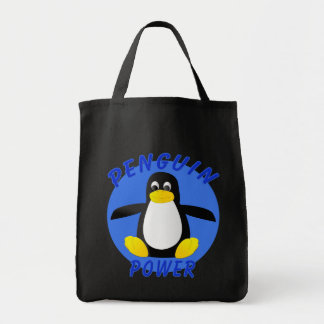 Penguin Power Grocery Tote Bag
