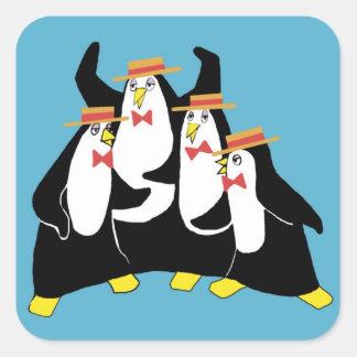 Penguin Quartet Square Sticker
