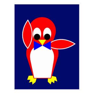 Penguin - Red Postcard