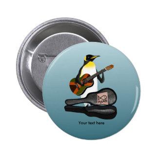 Penguin Reggae Guitar 2 Inch Round Button