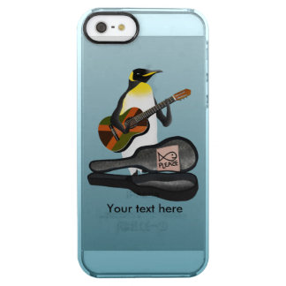 Penguin Reggae Guitar Clear iPhone SE/5/5s Case