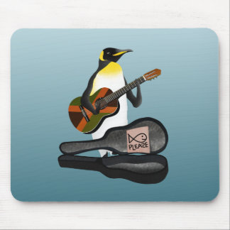 Penguin Reggae Guitar Mouse Pad