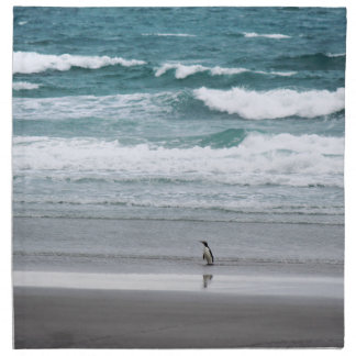 Penguin returning from the ocean napkin
