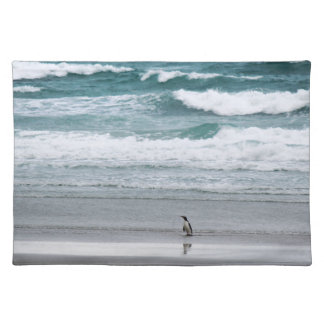 Penguin returning from the ocean placemat