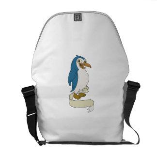 Penguin Ribbon Scroll Cartoon Commuter Bags