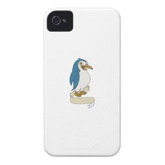 Penguin Ribbon Scroll Cartoon iPhone 4 Covers