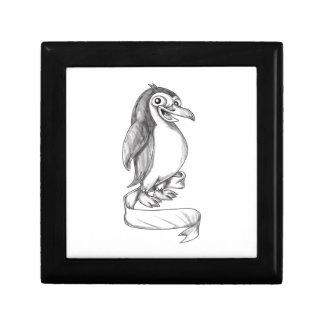 Penguin Ribbon Side Tattoo Gift Box