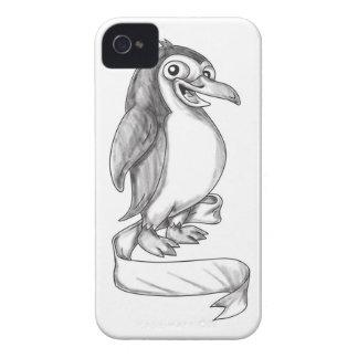 Penguin Ribbon Side Tattoo iPhone 4 Case-Mate Case