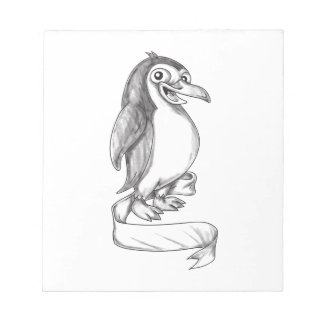 Penguin Ribbon Side Tattoo Notepad