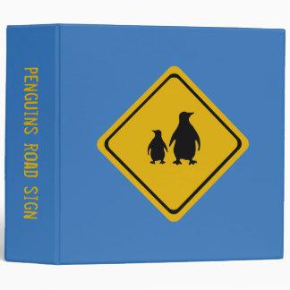 penguin road sign binders
