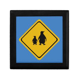 penguin road sign gift box