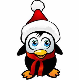 Penguin Santa Photo Sculpture Ornament