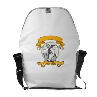 Penguin Shovel Chick Dreamcatcher Drawing Courier Bag