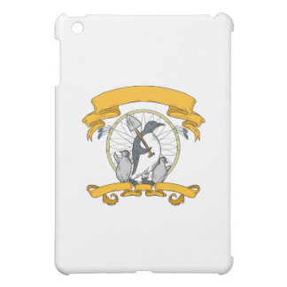 Penguin Shovel Chick Dreamcatcher Drawing Cover For The iPad Mini