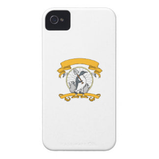 Penguin Shovel Chick Dreamcatcher Drawing iPhone 4 Cover
