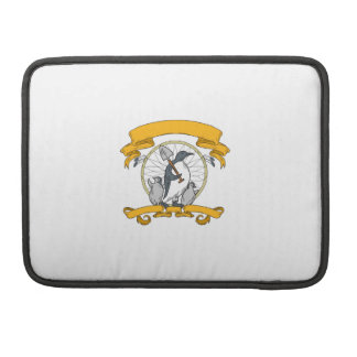 Penguin Shovel Chick Dreamcatcher Drawing Sleeve For MacBook Pro