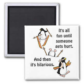 Penguin Ski Adventure Magnet