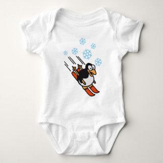 Penguin ski baby bodysuit