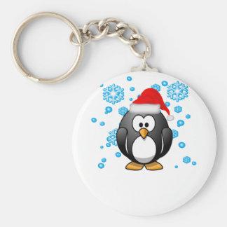 Penguin Snowflakes Winter Design Hoodie . Keychain