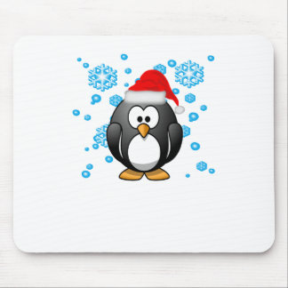 Penguin Snowflakes Winter Design Hoodie . Mouse Pad
