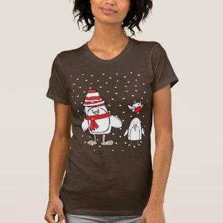 penguin snowman snowflakes shirts