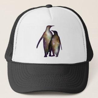 Penguin space trucker hat