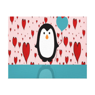 Penguin Stretched Canvas Print