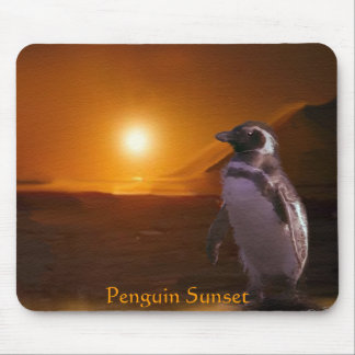 PENGUIN SUNSET Mousepad
