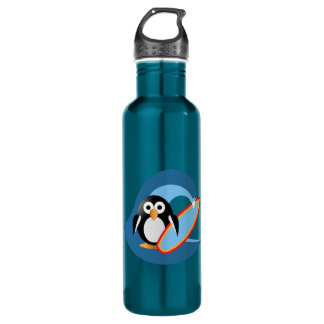 Penguin surfer 710 ml water bottle