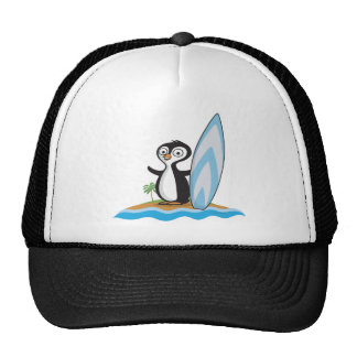 Penguin Surfer Trucker Hat