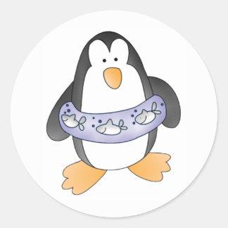 Penguin Swim Classic Round Sticker