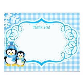 "Penguin Thank You Card 4.25"" X 5.5"" Invitation Card"