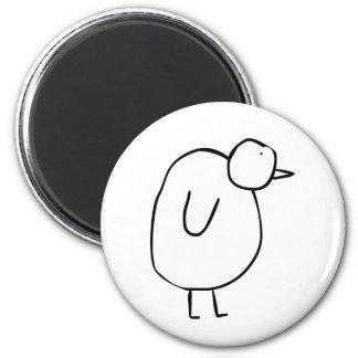 Penguin the Penguin 2 Inch Round Magnet