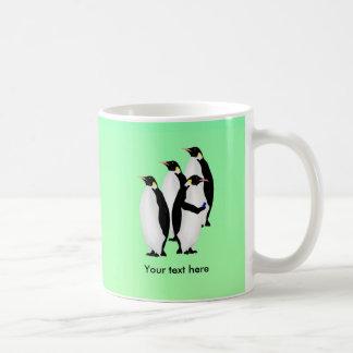 Penguin Using A Cellphone Classic White Coffee Mug