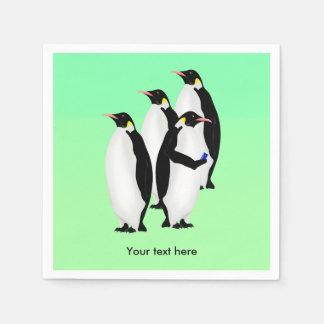 Penguin Using A Cellphone Disposable Napkins