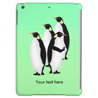 Penguin Using A Mobile Phone iPad Air Covers