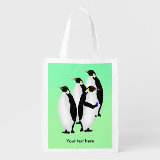 Penguin Using A Mobile Phone Market Totes