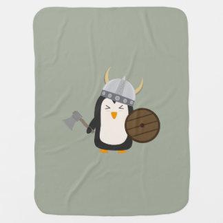 Penguin Viking Baby Blanket