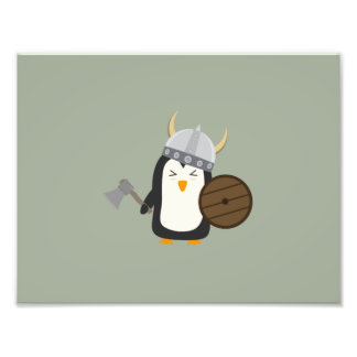 Penguin Viking Photo Print