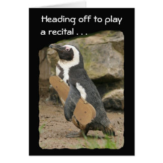 Penguin Violin Recital Card
